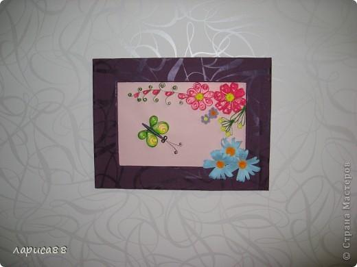 Еще рамки с цветами в технике квиллинг. фото 3