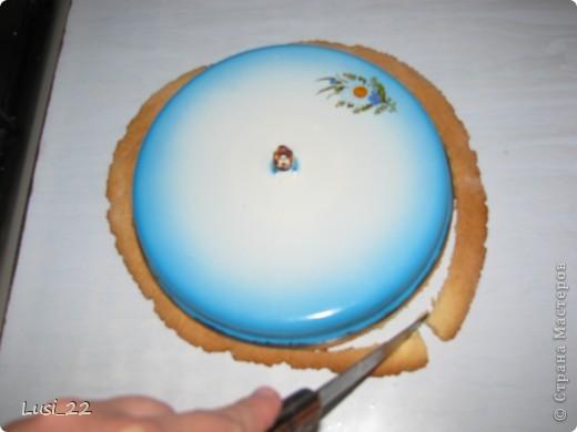 Этот торт внутри медовик. А так как на улице весна, решила оформить в таком духе. фото 23