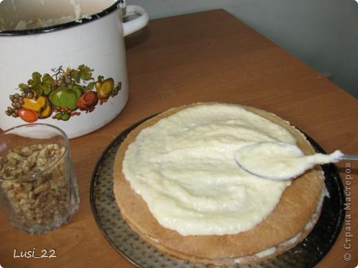 Этот торт внутри медовик. А так как на улице весна, решила оформить в таком духе. фото 41