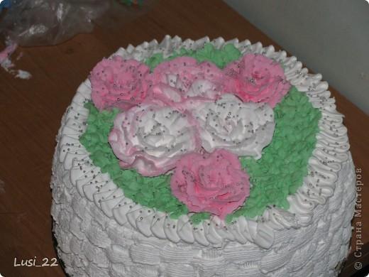 Этот торт внутри медовик. А так как на улице весна, решила оформить в таком духе. фото 53