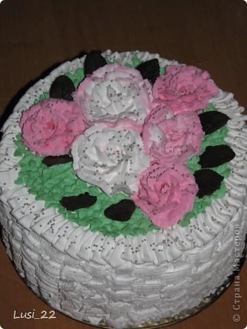 Этот торт внутри медовик. А так как на улице весна, решила оформить в таком духе. фото 62