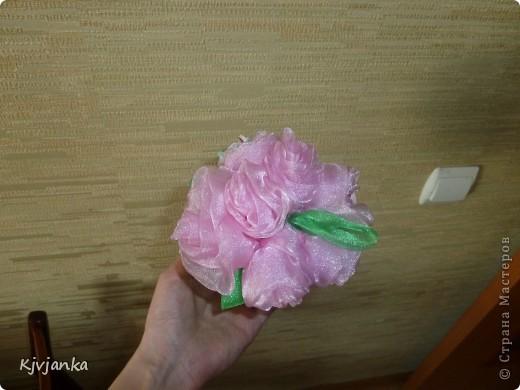 Как только увидела эти розы сразу решила сделать себе такие же. Спасибо огромное Танюшке-рукодельнице за потрясающе подробный МК.  Это вид сверху. фото 1