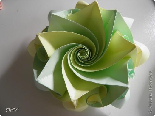 Мастер класс *Origami Aquilegia flower* фото 25