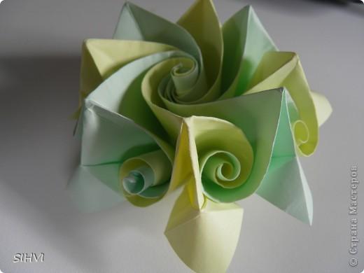Мастер класс *Origami Aquilegia flower* фото 26