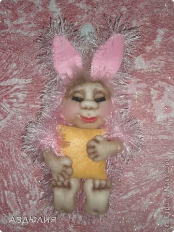 Очень понравился зайчик Юлии Григорян, вот решала сделать такую  пижамку Спюши ! фото 1