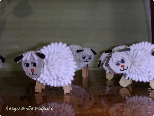 Вот такие  веселые  овечки получились  у  моих ребяток фото 2