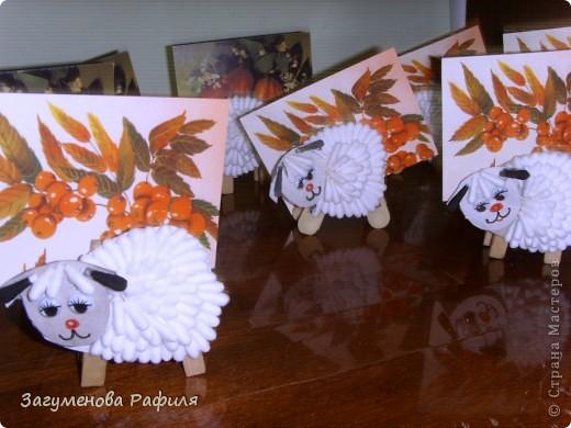 Вот такие  веселые  овечки получились  у  моих ребяток фото 1