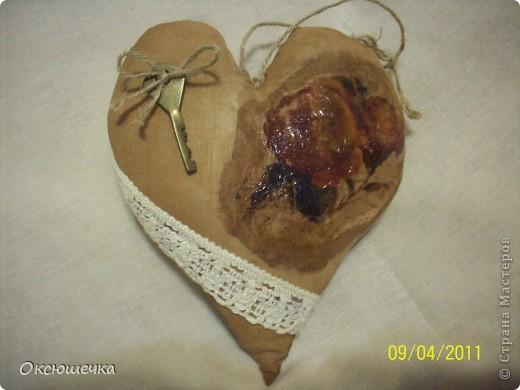 """Такое сердечко сделала по МК Елены Коган в группе на сайте ,,Однокл.."""" ко дню нашей свадьбы с мужем. фото 3"""