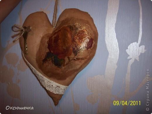 """Такое сердечко сделала по МК Елены Коган в группе на сайте ,,Однокл.."""" ко дню нашей свадьбы с мужем. фото 4"""