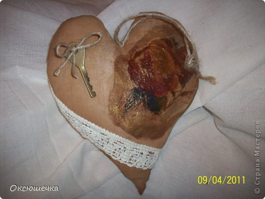 """Такое сердечко сделала по МК Елены Коган в группе на сайте ,,Однокл.."""" ко дню нашей свадьбы с мужем. фото 1"""
