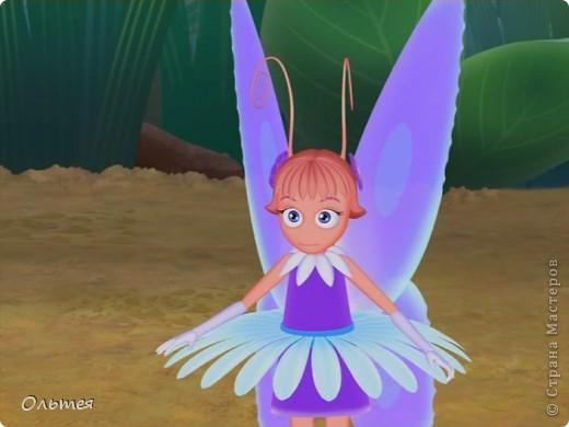 Бабочка Элина персонаж любимого мой дочкой Лунтика, получилась у меня конечно не точной копией, но дочка узнала. Теперь у нашего Лунтика есть подружка фото 3