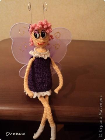 Бабочка Элина персонаж любимого мой дочкой Лунтика, получилась у меня конечно не точной копией, но дочка узнала. Теперь у нашего Лунтика есть подружка фото 1