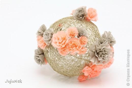 Мои цветочные шары - первые работы по МК Страны Мастеров - с огромной благодарностью! фото 2