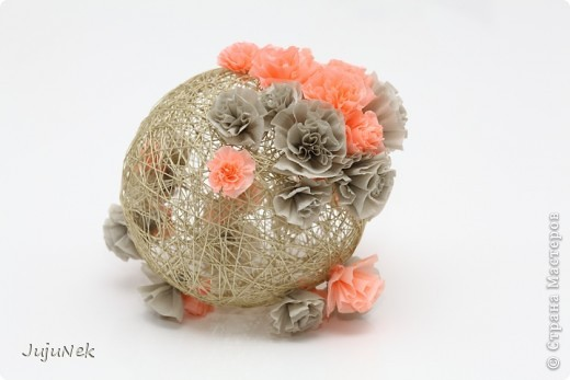 Мои цветочные шары - первые работы по МК Страны Мастеров - с огромной благодарностью! фото 3