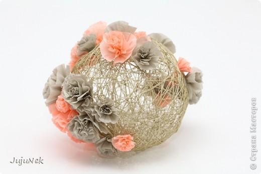 Мои цветочные шары - первые работы по МК Страны Мастеров - с огромной благодарностью! фото 1