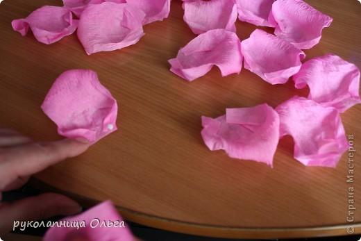Роза из гофрированной бумаги.Первый МК. фото 18