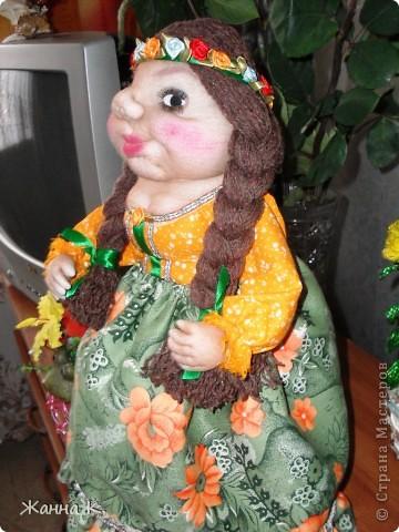 Очередная кукла на чайник фото 3