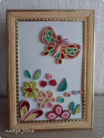 Бабочка с цветами. фото 1