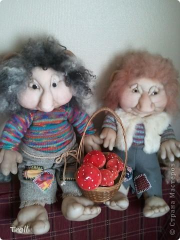 Дружная семеика норвежских рождественнских персонажей(Julenisser) фото 7