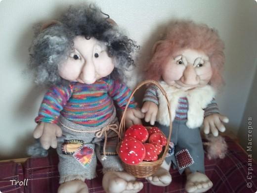 Дружная семеика норвежских рождественнских персонажей(Julenisser) фото 6