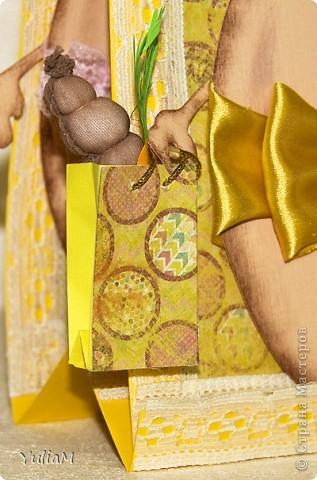 Здравствуйте! Меня не обошло стороной повальное подготовление к светлому празднику Пасхи. Сегодня на ваш суд представляю открытку, сделанную в подарок семье брата. Приступим...  фото 3
