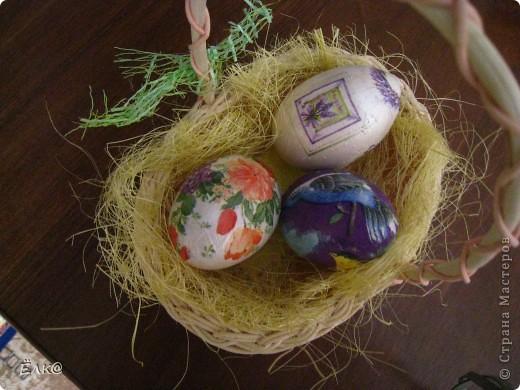 Вот такой набор из деревянных яиц и салфеток у меня получился фото 2