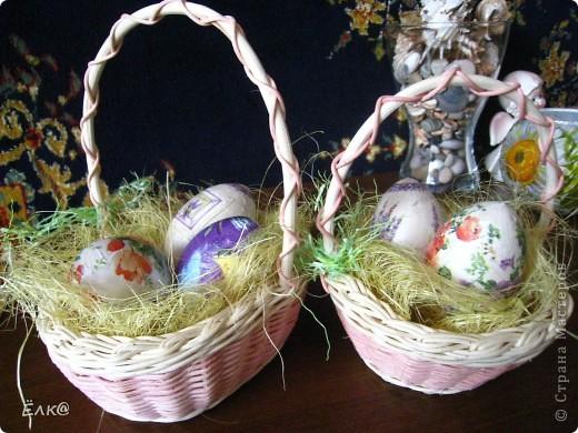 Вот такой набор из деревянных яиц и салфеток у меня получился фото 1