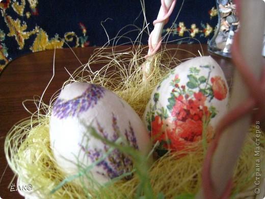 Вот такой набор из деревянных яиц и салфеток у меня получился фото 4