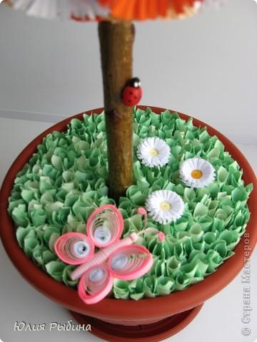 Просмотрев работы Мастериц, решила создать и свое дерево счастье. Подарю это рыжее дерево моей любимой мамочке. фото 5