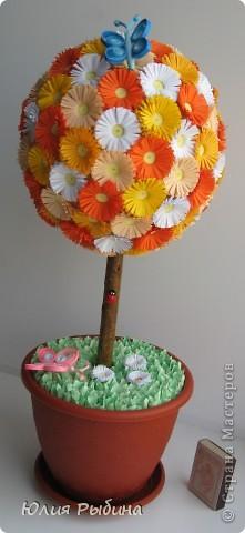 Просмотрев работы Мастериц, решила создать и свое дерево счастье. Подарю это рыжее дерево моей любимой мамочке. фото 2