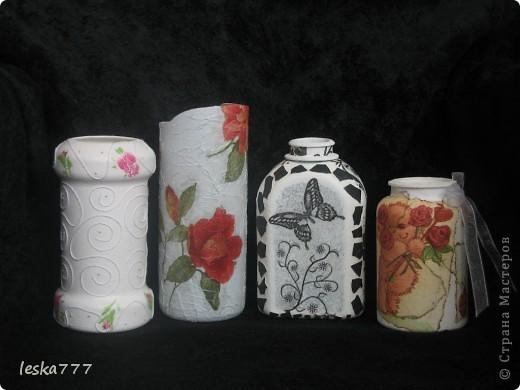"""Вот такие вазочки у меня получились в результате долгих """"мучений"""". фото 1"""