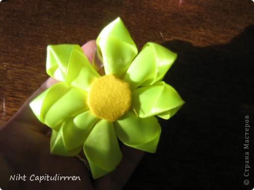 Скоро Пасха, мы каждый год украшаем вербные веточки самодельными цветочками (у бабушки в деревне), раньше я делала их из конфетных фантиков))) В этом году решила сделать Канзаши фото 12
