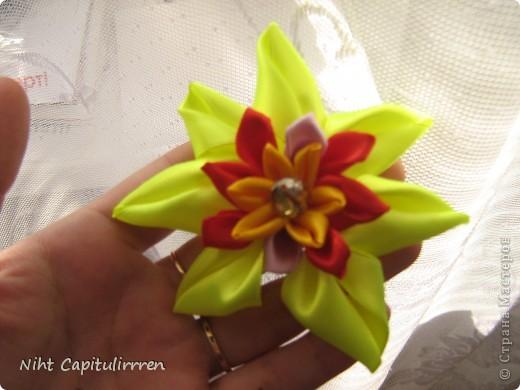 Скоро Пасха, мы каждый год украшаем вербные веточки самодельными цветочками (у бабушки в деревне), раньше я делала их из конфетных фантиков))) В этом году решила сделать Канзаши фото 17
