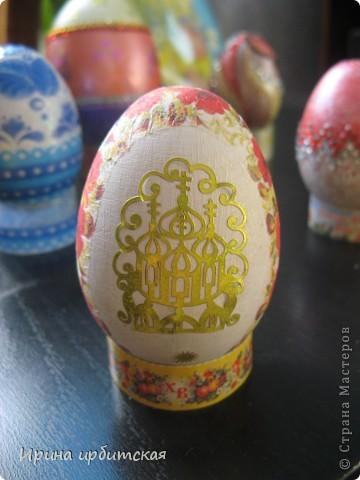 Первый раз украшала деревянные яйца! Пробовала разные способы... фото 2