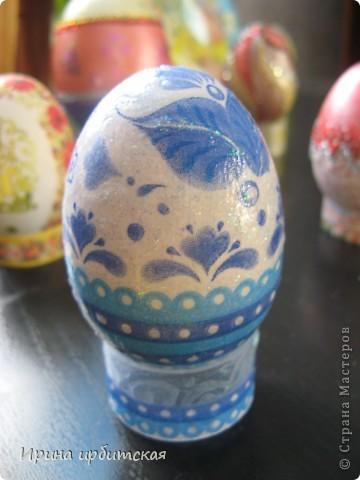 Первый раз украшала деревянные яйца! Пробовала разные способы... фото 5