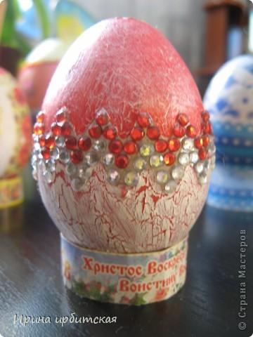 Первый раз украшала деревянные яйца! Пробовала разные способы... фото 3