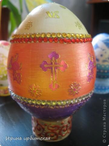 Первый раз украшала деревянные яйца! Пробовала разные способы... фото 6
