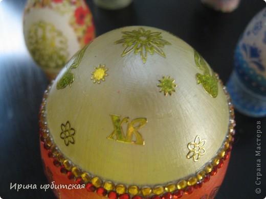 Первый раз украшала деревянные яйца! Пробовала разные способы... фото 7