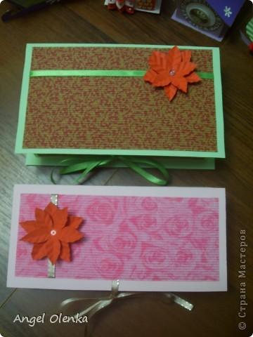 Подарочный комплект (открытка + упаковка для сладкого подарка). Делала такие комплекты в подарок всем учителям. фото 4
