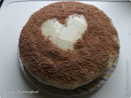 """Бисквитный торт """"Клубничное сердце"""" фото 2"""