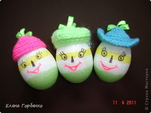 Пасхальные яйца в шляпках фото 1