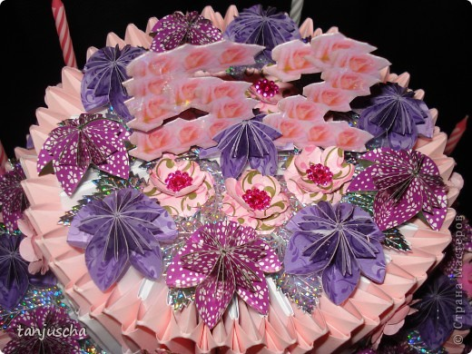 Торт Модульное оригами фото 5