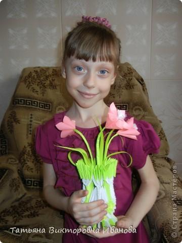 Эту вазочку мы собрали вместе с дочкой. фото 2