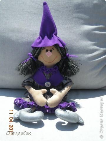Вот такая девочка-ведьмочка!!! Забавная и абсолютно не злобная!!! Придумала образ и в первый раз сама нарисовала выкройку! фото 1