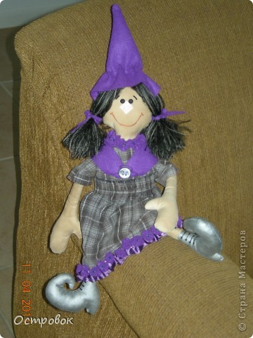 Вот такая девочка-ведьмочка!!! Забавная и абсолютно не злобная!!! Придумала образ и в первый раз сама нарисовала выкройку! фото 4