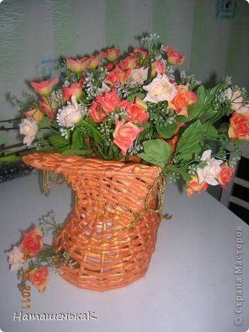 Увидела, влюбилась, загорелась и попробовала сделать. http://stranamasterov.ru/node/170981#comment-1401070 Это моя первая проба в плетении. Теперь точно знаю - не последняя. фото 1