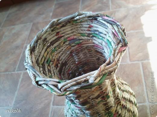 Вот такие у меня получились плетения-изобретения ))) Это камыш,в идеале мной увиденный - был сплетен из соломы... Смотриться красиво,вот только надо окрасить) фото 3