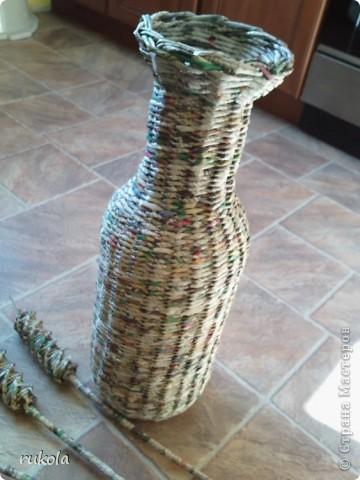 Вот такие у меня получились плетения-изобретения ))) Это камыш,в идеале мной увиденный - был сплетен из соломы... Смотриться красиво,вот только надо окрасить) фото 2