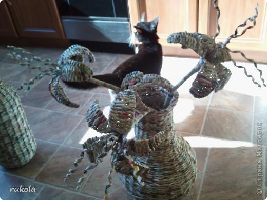 Вот такие у меня получились плетения-изобретения ))) Это камыш,в идеале мной увиденный - был сплетен из соломы... Смотриться красиво,вот только надо окрасить) фото 4