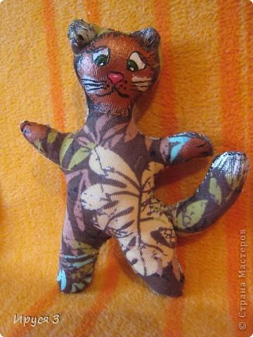 Кошечек Марина шила и рисовала мордочки  сама , я только помогла обвести контур . фото 2